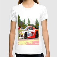 audi T-shirts featuring Flying Lizard Audi R8 | Road America by Phil Schroeder Design
