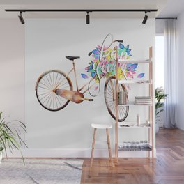 Keep going,bicycle motivational calligraphy text logo  Wall Mural