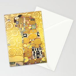 Gustav Klimt - The Embrace - Die Umarmung - Vienna Secession Painting Stationery Cards