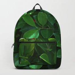 Green tropical foliage Backpack