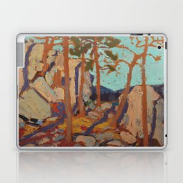 Tom Thomson - Pine Cleft Rocks - Canada, Canadian Oil Painting - Group of Seven Laptop & iPad Skin