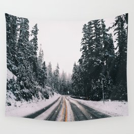 Winter Drive Wall Tapestry