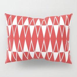 Mid Century Modern Diamond Pattern Red 234 Pillow Sham