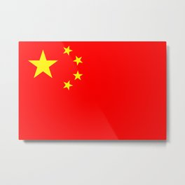 Chinese Flag Sticker & More Metal Print