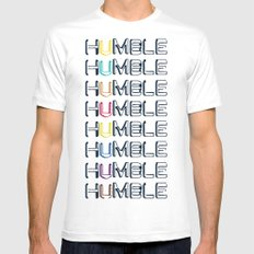 HUMBLE Mens Fitted Tee White MEDIUM