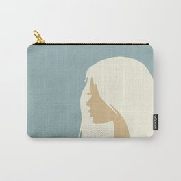 blonde girl in profile Carry-All Pouch