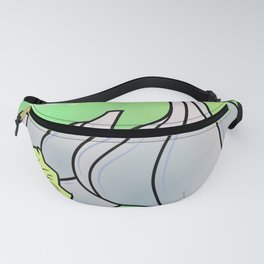 Garlic background. Black-and-white silhouette of garlic in the square Fanny Pack