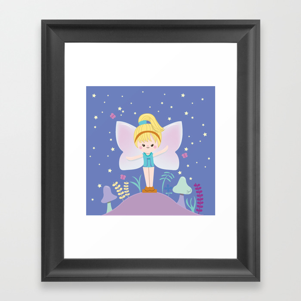 Polly Pocket Fairy 2 Framed Art Print by Guzel FRM8869563