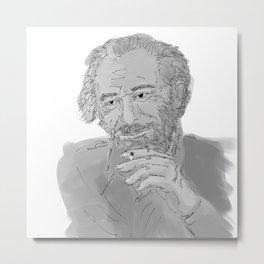Charles Bukowski Metal Print