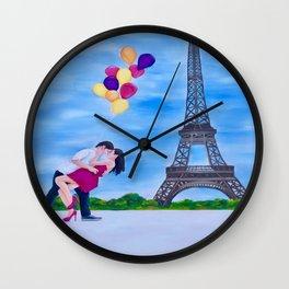 Eiffel for You Wall Clock