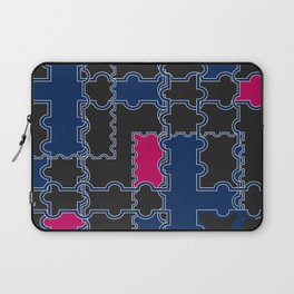 Abstract blue red pattern Laptop Sleeve