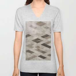 Abstract Pattern in Subtle Unisex V-Neck