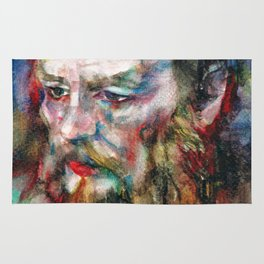 FYODOR DOSTOYEVSKY - watercolor portrait.3 Rug