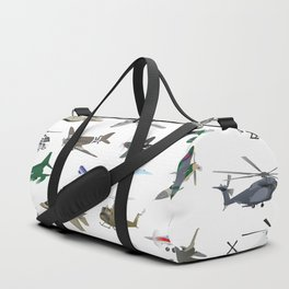 Various Colorful Airplanes and Helicopters Duffle Bag