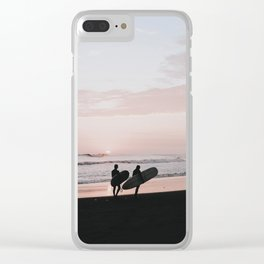 lets surf xi / peru Clear iPhone Case