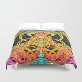 Time Shell III. Colorful Abstract Render Duvet Cover