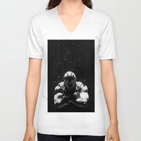 bane V-neck T-shirts featuring Bane by Sam Rowe Illustration