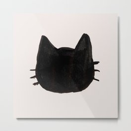 Black Cat Ink Metal Print