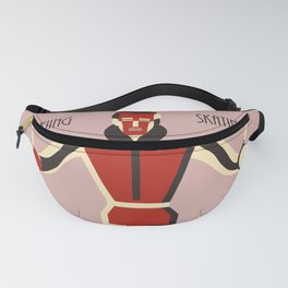 Art deco skiing National State Parks Fanny Pack