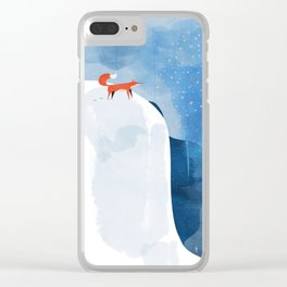 Fox In Nowhere Land Clear iPhone Case