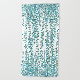 string of pearl watercolor Beach Towel