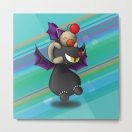 Moogle and Mr. Imp Friends Forever Metal Print