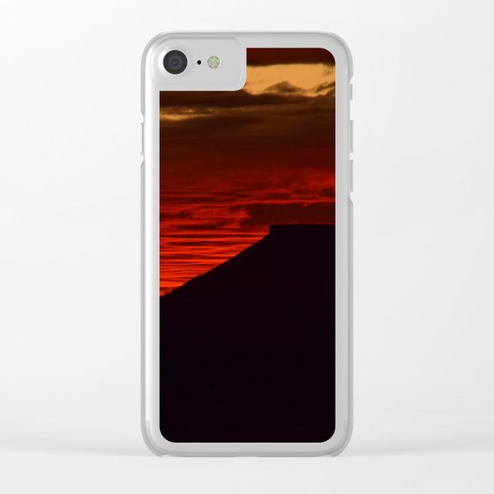 Red Hot Desert Sky Clear iPhone Case