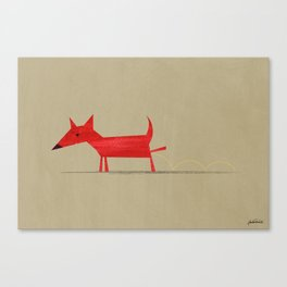 Red Dog1 Canvas Print