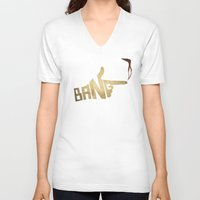 cowboy bebop V-neck T-shirts featuring See You Space Cowboy... by 5eth