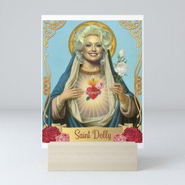Saint Dolly Parton Mini Art Print