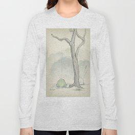 The frog under the rain Long Sleeve T-shirt