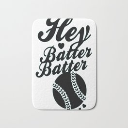 HEY BATTER BATTER Bath Mat