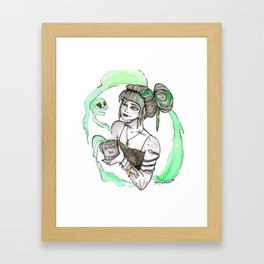Coffee Witch Framed Art Print