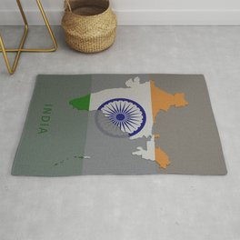India, Outline, Map Rug