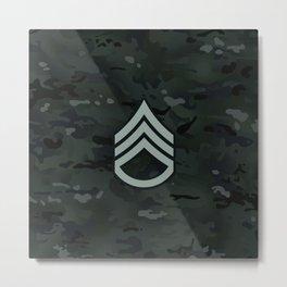 Staff Sergeant (Black Camo) Metal Print