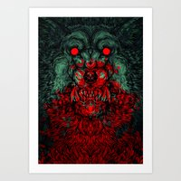 A wolf in the shape of a girl Art Print