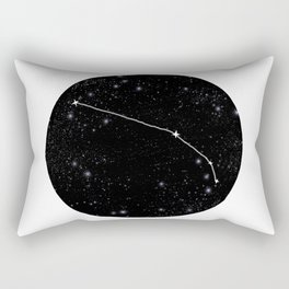 Minimalist aries constellation star chart zodiac black and white art Rectangular Pillow