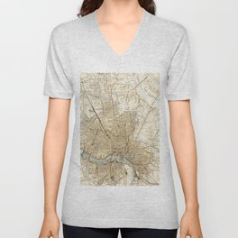 Vintage Map of Richmond Virginia (1934) Unisex V-Neck