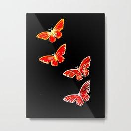 red and black butterflies Metal Print