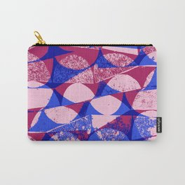 Pink and Blue semi circles - Sarah Bagshaw Carry-All Pouch