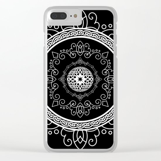 Celtic Soul Mandala Clear iPhone Case
