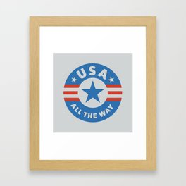 USA ALL THE WAY Framed Art Print