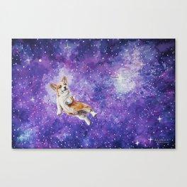 Space Corgi Canvas Print