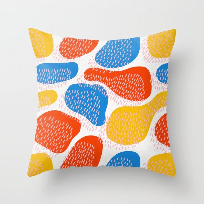 Abstract Orange Blue  Yellow Memphis Pattern