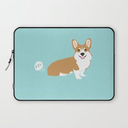 Corgi funny fart dog pure breed gifts dog lovers red corgis Laptop Sleeve