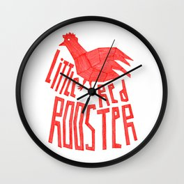 Little red rooster Wall Clock