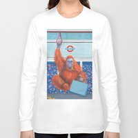 frank Long Sleeve T-shirts featuring Frank by Sarah Underwood Illustration