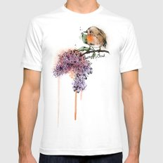 Pretty Bird Mens Fitted Tee SMALL White