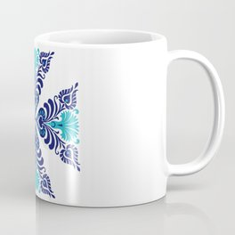 Hungarian Traditional Folk Art  Floral Modern Embroidery and Crochet Pattern Ornament Coffee Mug