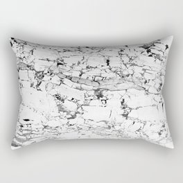 white marble Rectangular Pillow